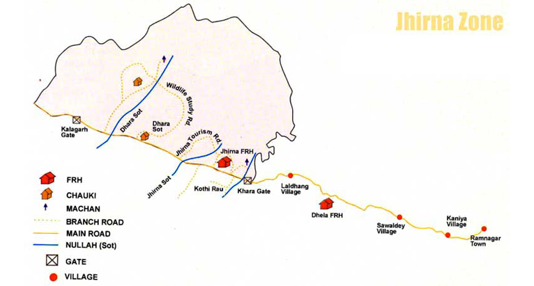 Corbett Jhirna Zone Map